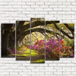 """Модульная картина """"Лесные цветы 5"""""""