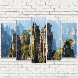 """Модульная картина """"Национальный парк в Китае 5"""""""