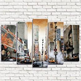 "Модульная картина ""Нью-Йорк Ретро 5"""