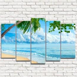 """Модульная картина """"Пляж 5"""""""