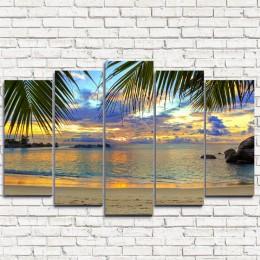 """Модульная картина """"Райский пляж 5"""""""