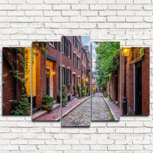 """Модульная картина """"Улица в Бостоне 5"""""""