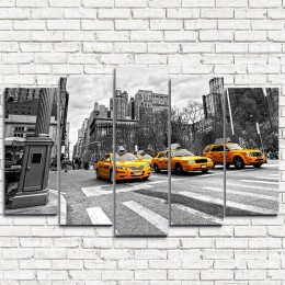 "Модульная картина ""Улица Нью-Йорка 5"""