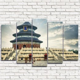 "Модульная картина ""Храм неба в Пекине 5"""