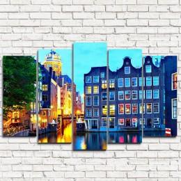 """Модульная картина """"Церковь в Амстердаме 5"""""""