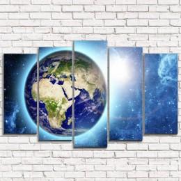 "Модульная картина ""Планета Земля 5"""