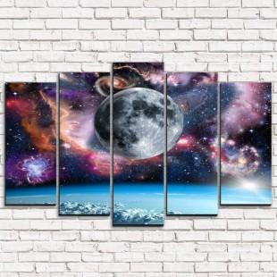 """Модульная картина """"Просторы вселенной 5"""""""