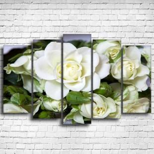 """Модульная картина """"Белые розы 5"""""""