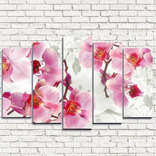 "Модульная картина ""Ветви орхидеи 5"""