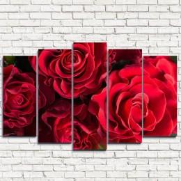 """Модульная картина """"Волнистые розы 5"""""""