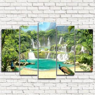 """Модульная картина """"Волшебные водопады 5"""""""