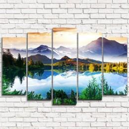 """Модульная картина """"Волшебное озеро в горах 5"""""""