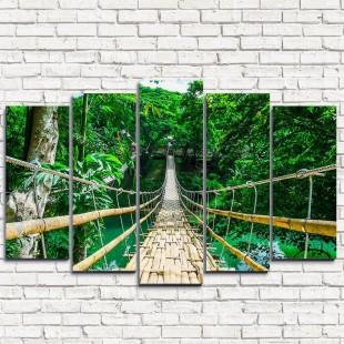 """Модульная картина """"Бамбуковый мост 5"""""""
