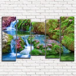 "Модульная картина ""Зеленая река 5-2"""