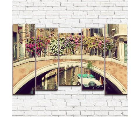 """Модульная картина """"Венецианский мост 5-2"""""""
