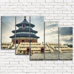"Модульная картина ""Храм неба в Пекине 5-3"""