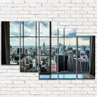 "Модульная картина ""Окно на Манхэттен 5-3"""