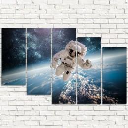"Модульная картина ""Астронавт 5-3"""