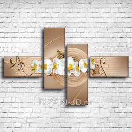"""Модульная картина """"Веточка орхидеи 2"""""""