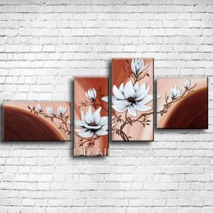 "Модульная картина ""Нежные цветы 3"""