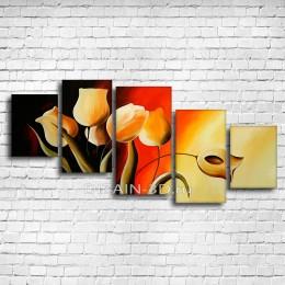"""Модульная картина """"Золотистые тюльпаны"""""""
