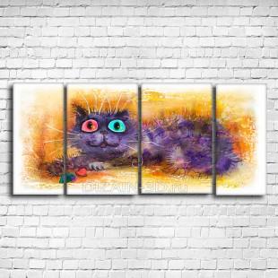 """Модульная картина """"Разноцветные глазки"""""""