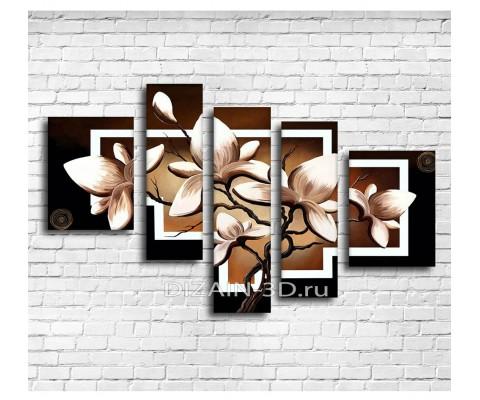 """Модульная картина """"Менуэт белых лилий"""""""