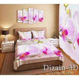 """Постельное белье """"Орхидеи на фоне 2"""""""