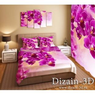 """Постельное белье """"Розовые орхидеи 3"""""""
