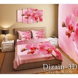 """Постельное белье """"Розовые орхидеи"""""""