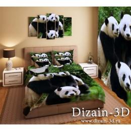 """Постельное белье """"Счастливые панды"""""""