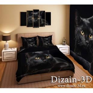 """Постельное белье """"Черный кот"""""""