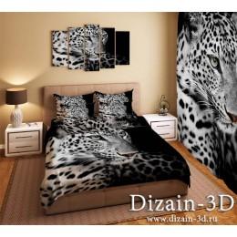 """Постельное белье """"Два леопарда"""""""