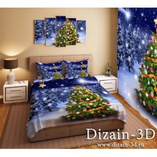 """Постельное белье """"Новогодняя елка 2"""""""