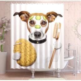 """ФотоШторы """"Собака в ванной"""""""