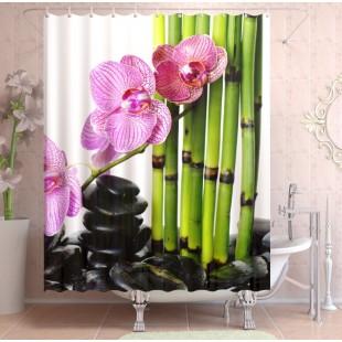 """ФотоШторы """"Цветы и бамбук"""""""