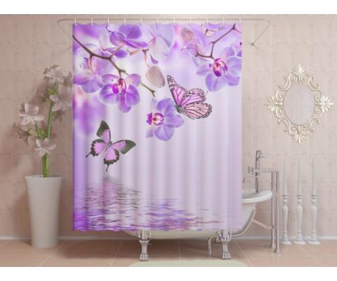 """ФотоШторы """"Бабочки и орхидеи"""""""