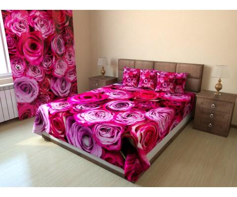 """Фотопокрывало """"Розовые розы"""""""