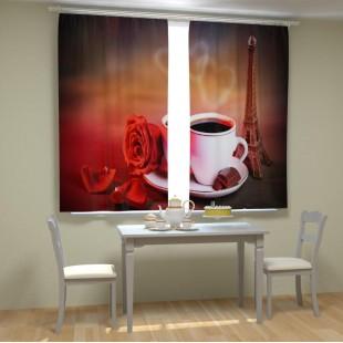 """ФотоШторы """"Кофе в Париже"""""""