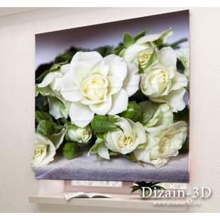 """Римские ФотоШторы """"Белые розы 2"""""""