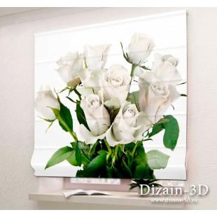 """Римские ФотоШторы """"Белые розы"""""""