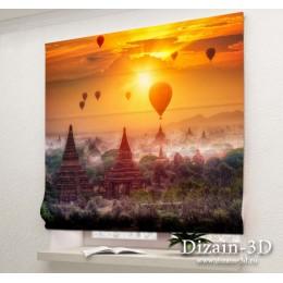 """Римские ФотоШторы """"Воздушные шары в Китае"""""""