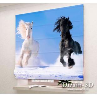 """Римские ФотоШторы """"Великолепные кони"""""""