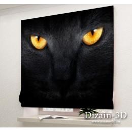 """Римские ФотоШторы """"Черный кот"""""""
