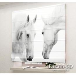 """Римские ФотоШторы """"Белые кони"""""""