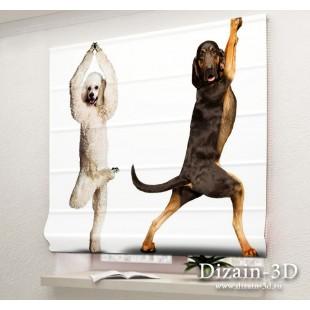"""Римские ФотоШторы """"Танцующие собаки"""
