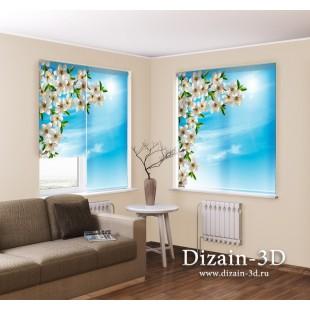 """Рулонные ФотоШторы """"Весенние цветы вишни"""""""