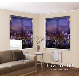 """Рулонные ФотоШторы """"Балкон в Нью-Йорке"""""""